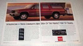 1992 GMC Suburban Ad - Perfect Way to Travel - $14.99