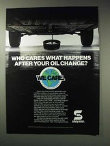 1992 Safety-Kleen Ad - We Care Recycling Program - $14.99