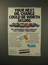 1992 Mr. Goodwrench Service Ad - Next Oil Change - $14.99