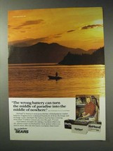 1992 Sears DieHard Batteries Ad - Middle of Paradise - $14.99