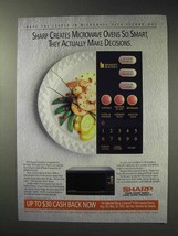 1992 Sharp Smart and Easy Microwave Ad - Decisions - $14.99
