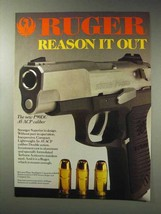 1992 Ruger P90DC Pistol Ad - Reason it Out - $14.99