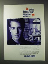 1992 U.S. Armed Forces Ad - Earned More Than Stripes - $14.99