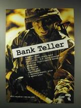 1992 U.S. Army Reserve Ad - Bank Teller - $14.99