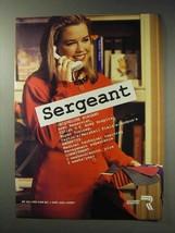 1992 U.S. Army Reserve Ad - Sergeant - $14.99