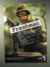 1992 U.S. Army Reserve Ad - Freshman - $14.99
