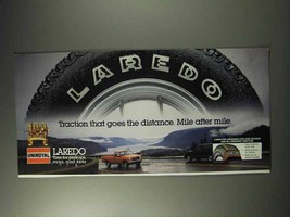 1992 Uniroyal Laredo Tires Ad - Traction Goes Distance - $14.99