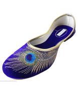 Women Shoes Traditional Indian Ballerinas Leather Mojari Purple Jutties ... - $24.99