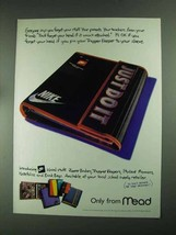 1994 Mead Nike Trapper Keeper Ad - Forget Your Stuff - $14.99