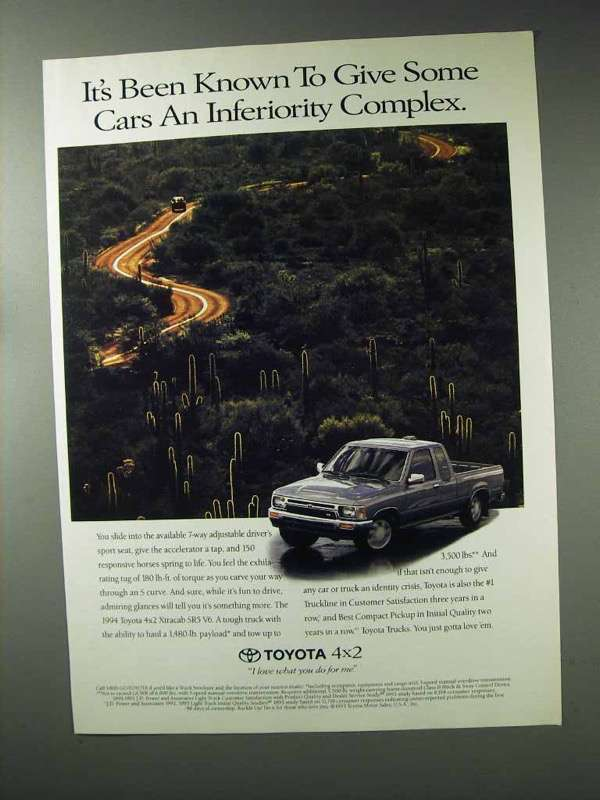 1994 Toyota 4x2 Xtracab SR5 V6 Truck Ad - Inferiority - $14.99