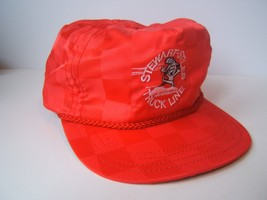 Stewart-Stiles Truck Line Hat Vintage Red Strapback Baseball Cap Made in USA - $30.74
