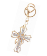 Blessed & Holy Cross Keychain Keyring Crystal Rhinestones Car Pendant (W... - $17.45+