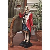"""36"""" Gothic Skeleton Formal Wear Server Butler Decorative Sculpture Table - ₨24,418.77 INR"""