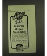 1903 The North-Western Union Pacific Line Ad - $14.99