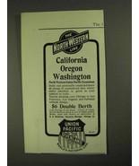 1903 The North-Western Union Pacific Line Ad - California Oregon - $14.99