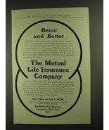 1907 the Mutual Life Insurance Company Ad - Better - $14.99