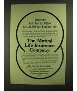1907 The Mutual Life Insurance Company Ad - $14.99