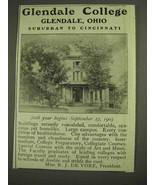 1903 Glendale College Ad - Glendale, Ohio - $14.99