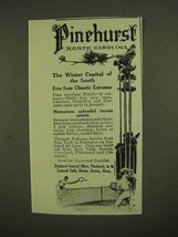 1911 Pinehurst North Carolina Ad - Winter Capital - $14.99