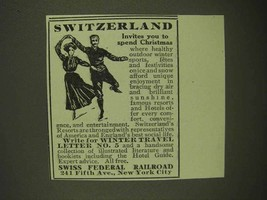 1911 Swiss Federal Railroad Ad - Spend Christmas - $14.99