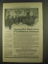 1912 Bauer Sanatogen Ad - Signing Their Declaration - $14.99