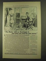 1912 Bauer Sanatogen Ad - Just What You Need for Nerves - $14.99