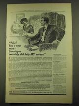 1912 Bauer Sanatogen Ad - I Feel Like a New Man - $14.99