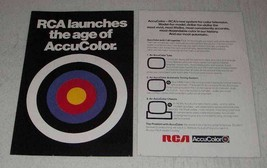 1970 RCA TV Ad - Launches The Age of AccuColor - $14.99