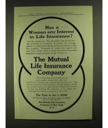 1907 The Mutual Life Insurance Company Ad - A Woman - $14.99