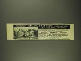 1908 Cincinnati Conservatory of Music Ad - $14.99