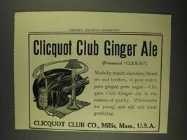 1908 Cliquot Club Ginger Ale Ad - $14.99