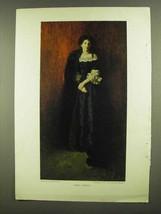 1908 Diana Sherley Illustration - Howard Pyle Painting - $14.99
