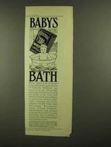 1908 Cuticura Soap Ad - Baby's Bath - $14.99