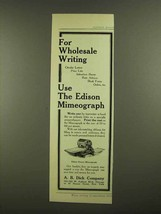 1908 Edison Rotary Mimeograph Ad - Wholesale Writing - $14.99