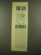 1908 Cuticura Soap Ad - For Sun Blemishes - $14.99