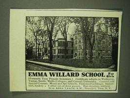 1908 Emma Willard School for Girls Ad - $14.99