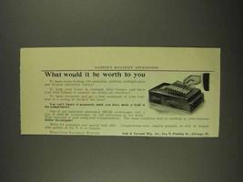 1908 Felt & Tarrant Comptometer Ad - Worth To You - $14.99