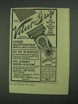 1908 George Frost Velvet Grip Hose Supporter Ad - $14.99