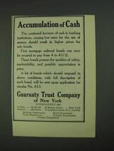 1908 Guaranty Trust Company of New York Ad - Cash - $14.99