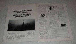 1971 Ford Motor Company Ad - Causes of Air Pollution - $14.99