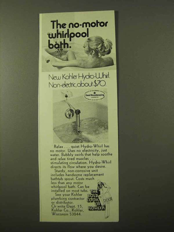 1971 Kohler Hydro-Whirl Bath Ad - No-Motor and similar items