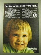 1971 Prudential Life Insurance Ad - My Dad Owns a Piece - $14.99