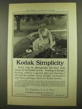 1912 Kodak Film Tank Ad - Kodak Simplicity - $14.99