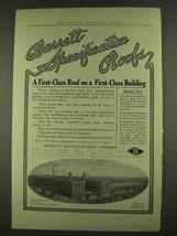 1913 Barrett Specifiation Roofs Ad - First-Class - $14.99