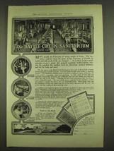 1913 Battle Creek Sanitarium Ad - Eating Is A Science - $14.99