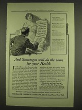 1913 Bauer Sanatogen Ad - Do The Same For Your Health - $14.99