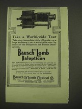 1913 Bausch and Lomb Balopticon Stereopticon Ad - $14.99