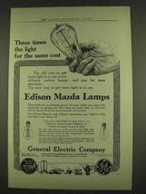 1913 General Electric Edison Mazda Lamps Ad - $14.99