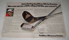 1970 Faultless 70's Golf Clubs by Lee Trevino Ad - $14.99