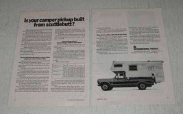 1971 2-page International 1210 Camper Special Pickup Ad - $14.99